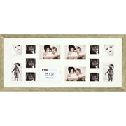 Champagne 14-Opening Collage Frame, Set of 2