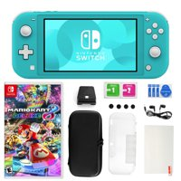 Nintendowitch Lite in Turquoise with Mario Kart 8 Deluxe and 11 in 1 Accessories Kit