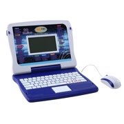 Tech Kidz My Exploration Toy Computer Children's Educational Interactive Laptop, 80 Challenging Games and Activities, LCD Screen, Keyboard and Mouse Included ( Blue ), Ages 5+
