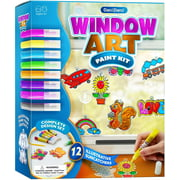 Window Art Suncatcher Painting Kit for Kids - Arts and Crafts for Girls & Boys Ages 6-12 - Craft Kits Art Set - Indoor Sun Catcher Paint Kits - Craft Gift Ideas for Kids Activities Age 4 5 6 7 8