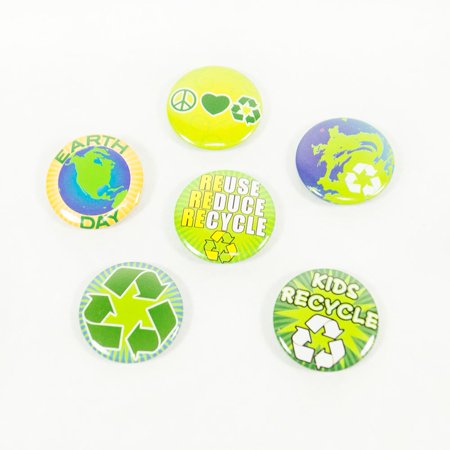 Mini Earth Day Buttons -