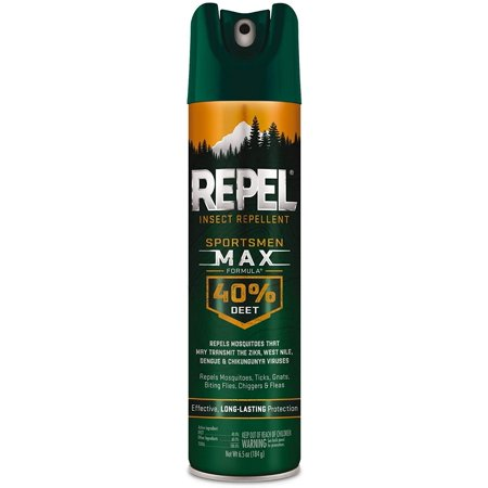 Repel 33801 6-1/2-Ounce Sportsmen Max Formula 40-Percent DEET Spray, Case Pack of 1 Insect, Aerosol, 6.5 oz Case 19 Ounce Aerosol