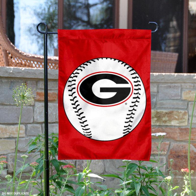 """Georgia Bulldogs Baseball 13"""" x 18"""" College Garden Flag"""