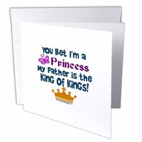 3dRose You Bet Im A Princess, Greeting Cards, 6 x 6 inches, set of 12