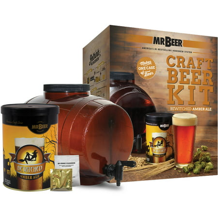Mr. Beer Bewitched Amber Ale Craft Beer Making Kit with Convenient 2 Gallon Fermenter Designed for Simple and Efficient Homebrewing