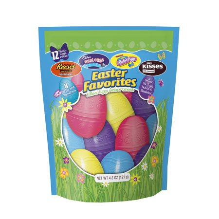Hershey Easter Chocolate Filled Plastic Egg Assortment, 4.3 oz