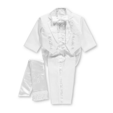 Pretty Me Baby Boys' Embroidered 6-Piece Christening Tuxedo - Baby Christening