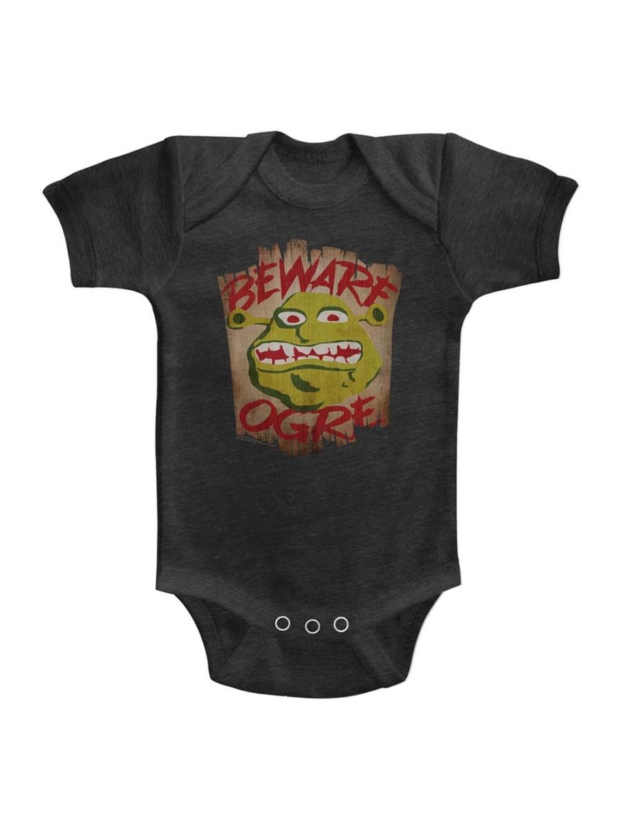 Shrek Movie Beware Vintage Smoke Infant Baby Romper Creeper Snapsuit