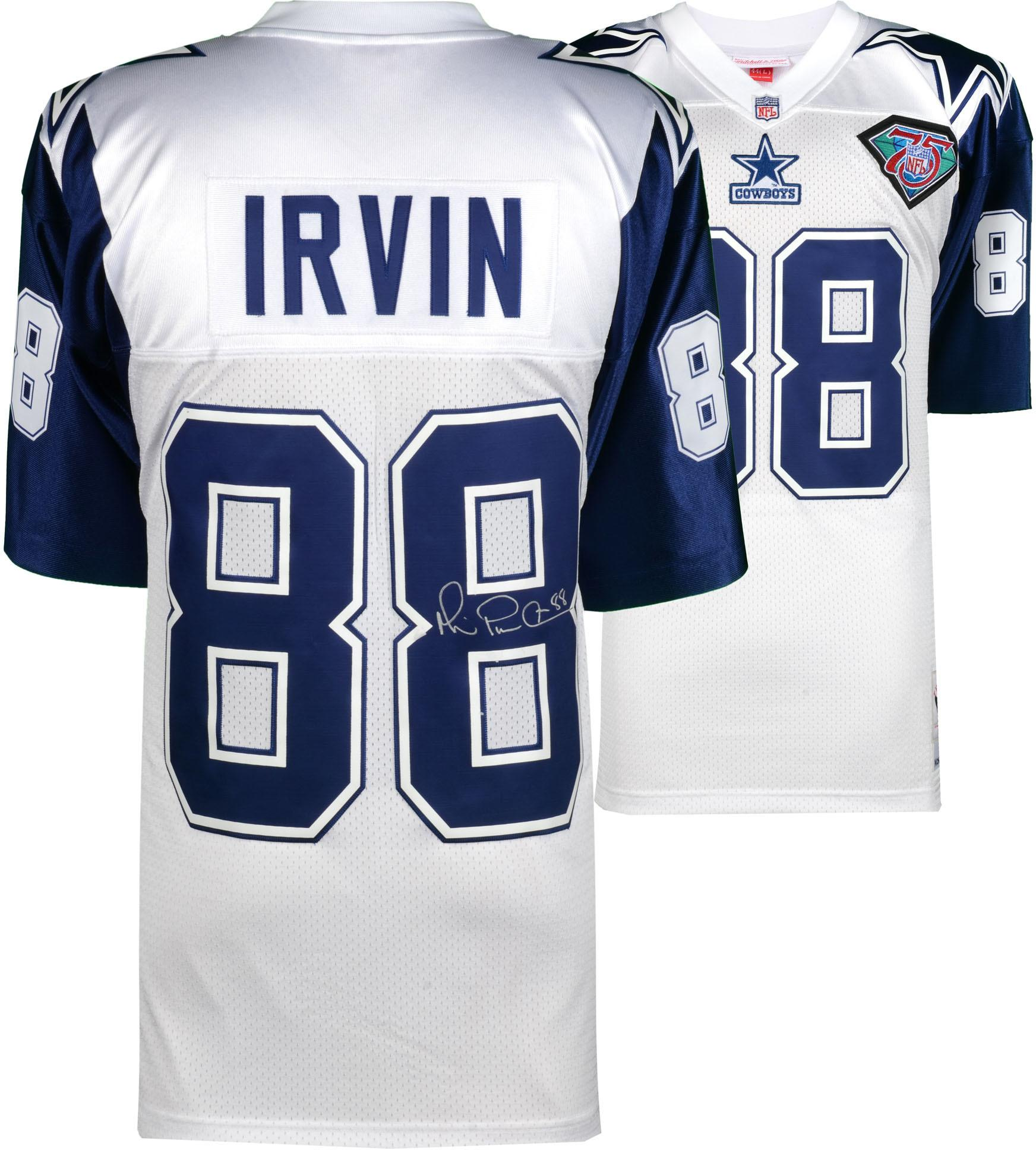 Michael Irvin Dallas Cowboys Autographed White Mitchell & Ness Authentic Jersey - Fanatics Authentic Certified
