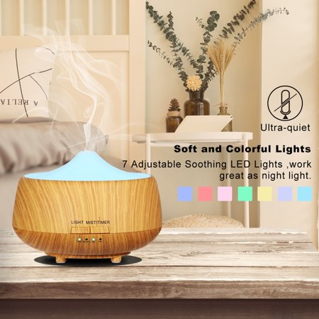 Aroma Essential Oil Diffuser 250ml Ultrasonic Cool Mist Humidifier wit