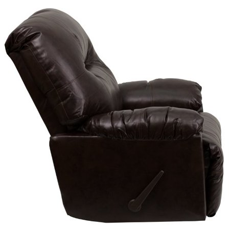 Brown Leather Chaise - Flash Furniture AM-9350-9075-GG Contemporary Bentley Brown Leather Chaise Rocker Recliner