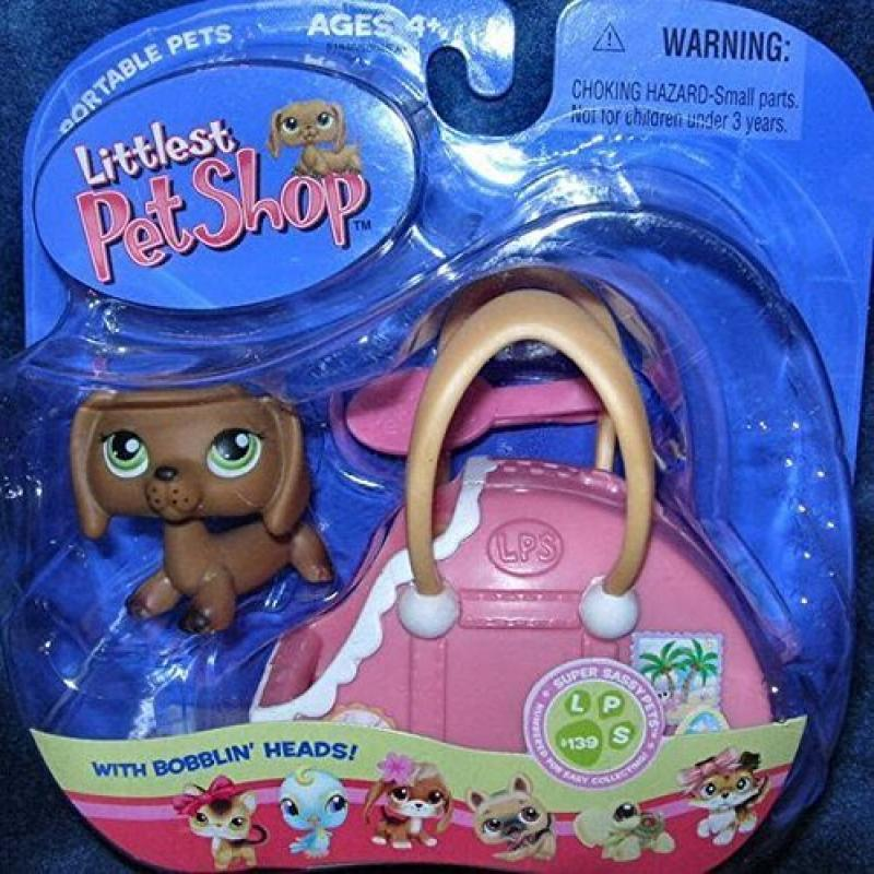 Littlest Pet Shop Super Sassy Pets 139 Dachshund In Suitcase by
