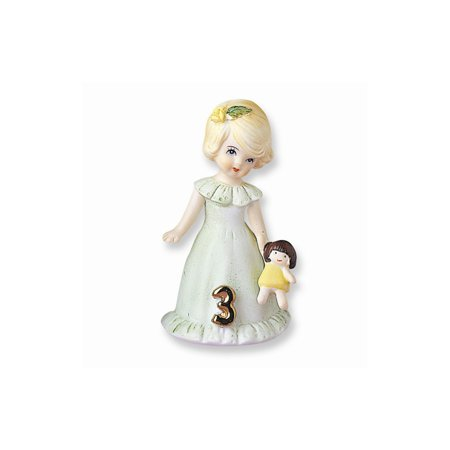 Enesco Growing up Girls Blonde Age 3 Figurine, 3.25 in