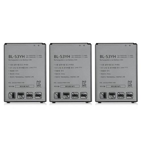 Battery for LG BL-53YH (3-Pack) Replacement Battery