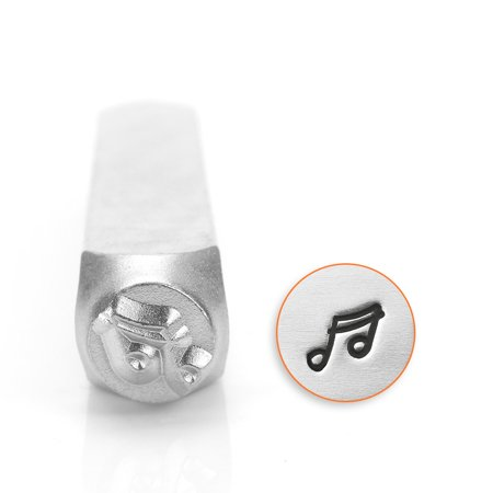 Stamps Baxter Music - ImpressArt Metal Punch Stamp, Music 16th Notes 6mm (1/4 Inch), 1 Piece, Steel
