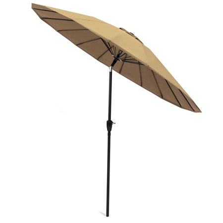 - Best Choice Products 8.5ft Outdoor Steel Market Patio Umbrella for Backyard, Garden, Deck w/ Easy Tilt Push Button, Crank Adjustment, Single Wind Vent