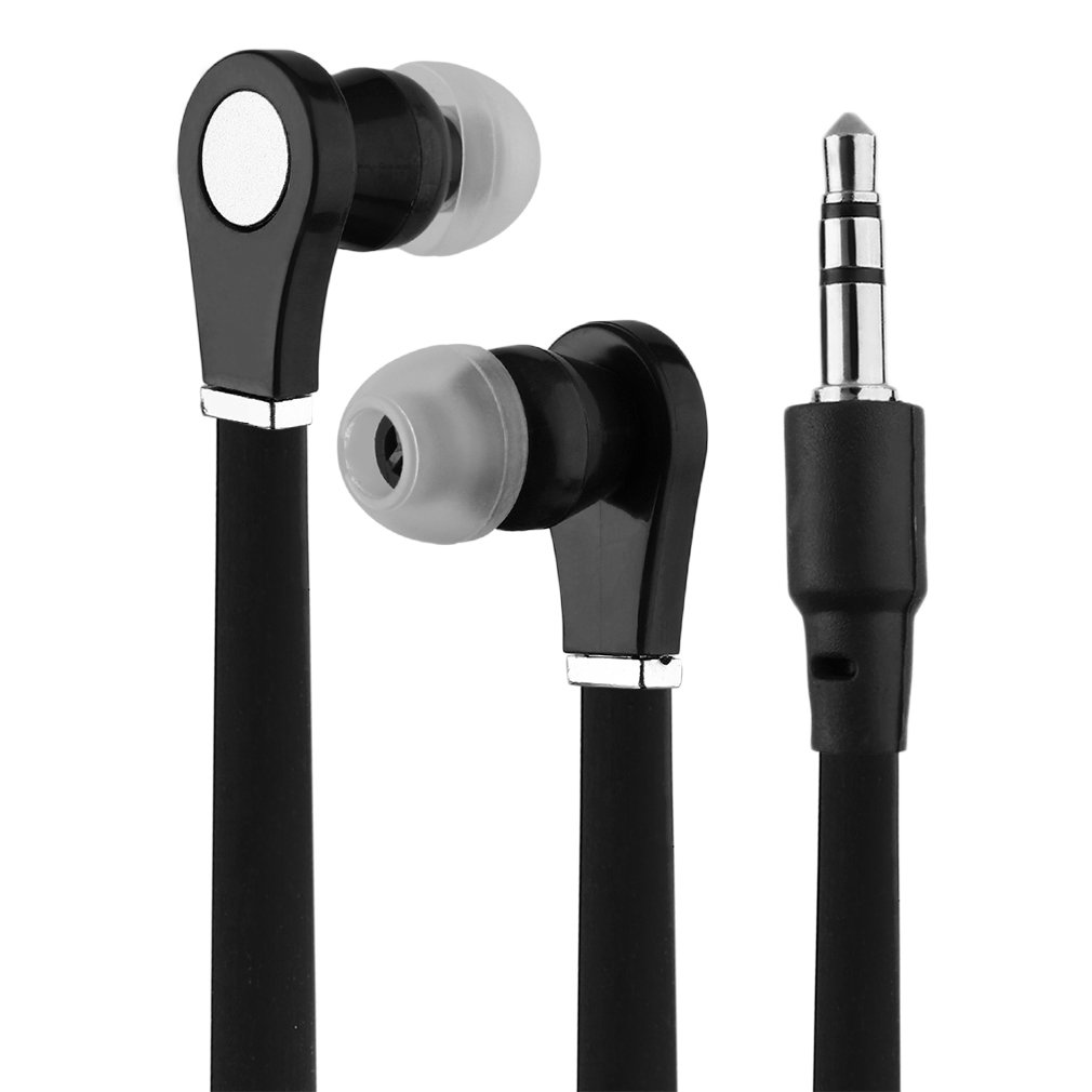 Earbuds Earphones In-Ear Sound Isolating Headphones Flat Cable for Phone MP3