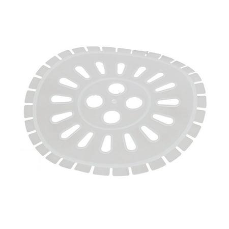 25cm Dia Plastic Semi Automatic Washing Machine Spin Cap Cover White