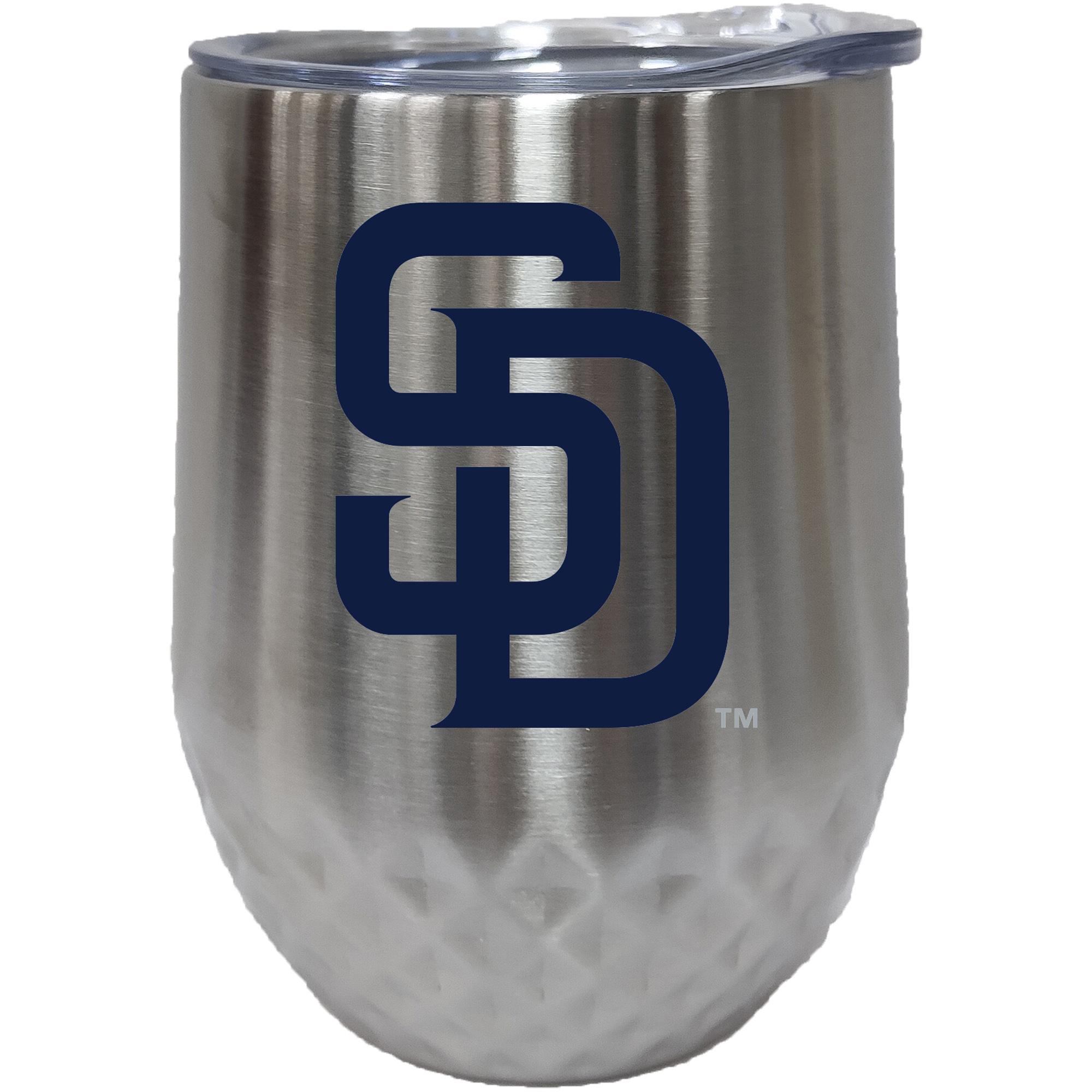 San Diego Padres 12oz. Stainless Steel Stemless Diamond Tumbler - No Size