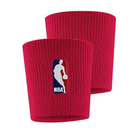 Nike Double Wide Wristbands - NBA Nike Wristbands - Red - No Size