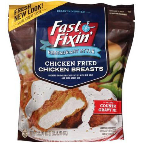 Fast Fixin' Restaurant Style Chicken Fried Chicken Breasts, 22.75 oz
