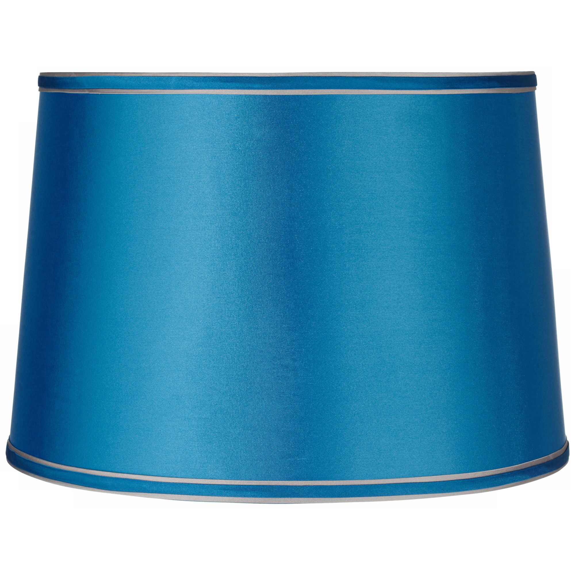 Brentwood Sydnee Satin Turquoise Drum Lamp Shade 14X16x11 (Spider)