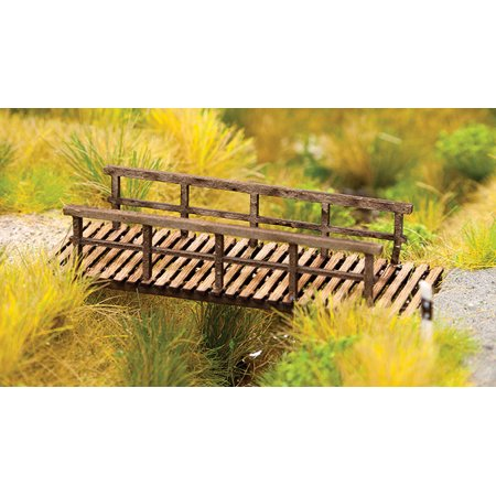 Walthers SceneMaster HO Scale Wooden/Wood Foot Bridge for Parks (Kit) Scale Scenemaster Railroad