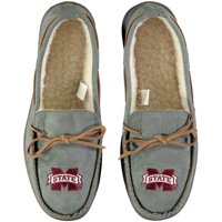 Mississippi State Bulldogs Big Logo Moccasin Slippers