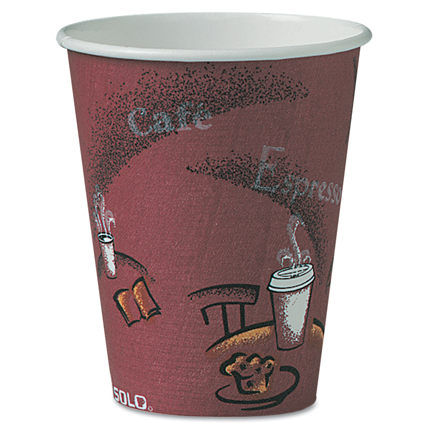 Solo Hot Paper Cups, 8 oz, 500 count