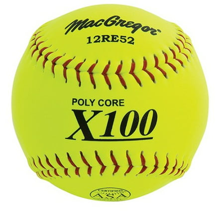 MacGregor Softballs Slow Pitch 12'' - X52RE, Yellow - 12 Pcs