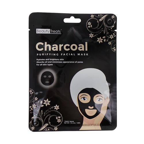 (3 Pack) BEAUTY TREATS Charcoal Purifying Facial Mask
