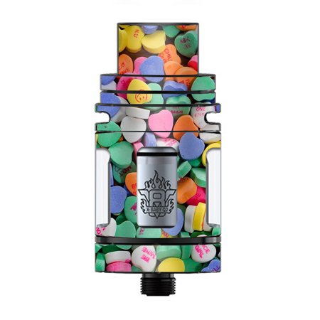Skin Decal Vinyl Wrap for Smok TFV8 X-Baby Tank Vape skins stickers cover/  Heart Candy, Valentines candy