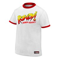 "Official WWE Authentic Ronda Rousey ""Rowdy Ronda Rousey""  T-Shirt White Small"