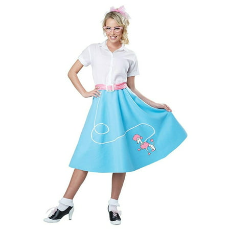 Poodle Skirt Costume For Adults (50's Poodle Skirt Adult Costume,)