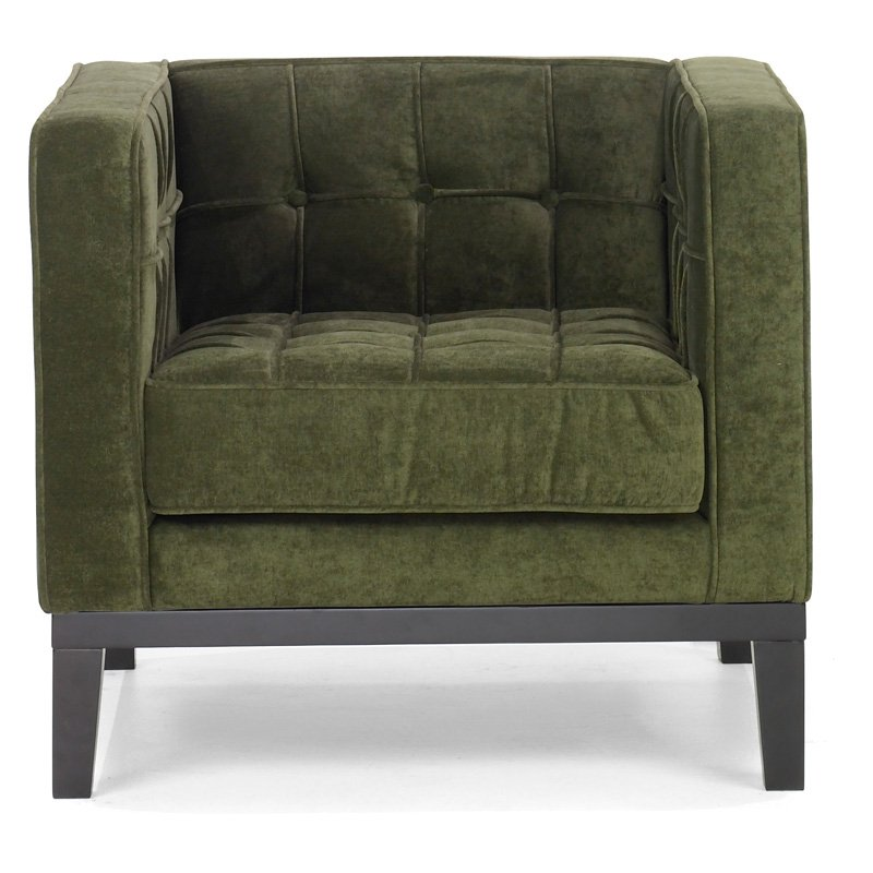 Armen Living Roxbury Tufted Arm Chair - Green