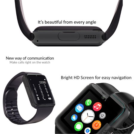 Indigi® UNLOCKED! GSM 2-in-1 Smart Watch Phone Camera SIM-Card Slot ~ Free 32GB microSD - image 4 of 5
