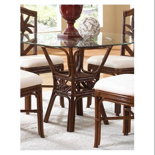 Cancun Palm Indoor Rattan & Wicker Square Dining Table