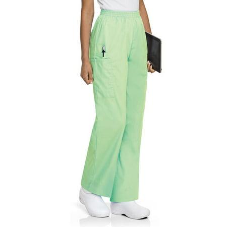 - ScrubZone by Landau Women's Elastic Waist Cargo Scrub Pant, Style 83221