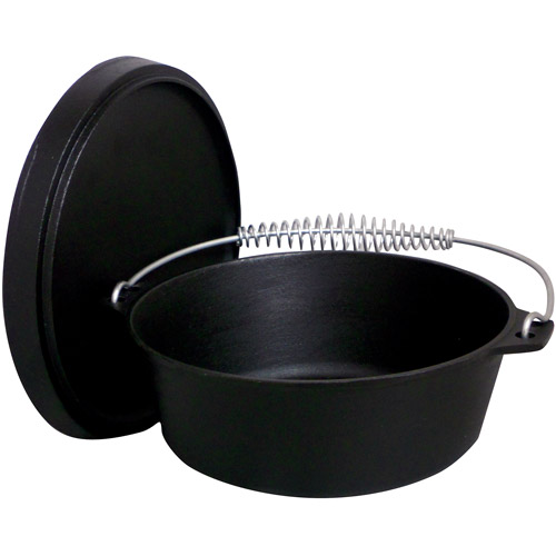 King Kooker Pre-Seasoned 12 qt Cast Iron Dutch Oven