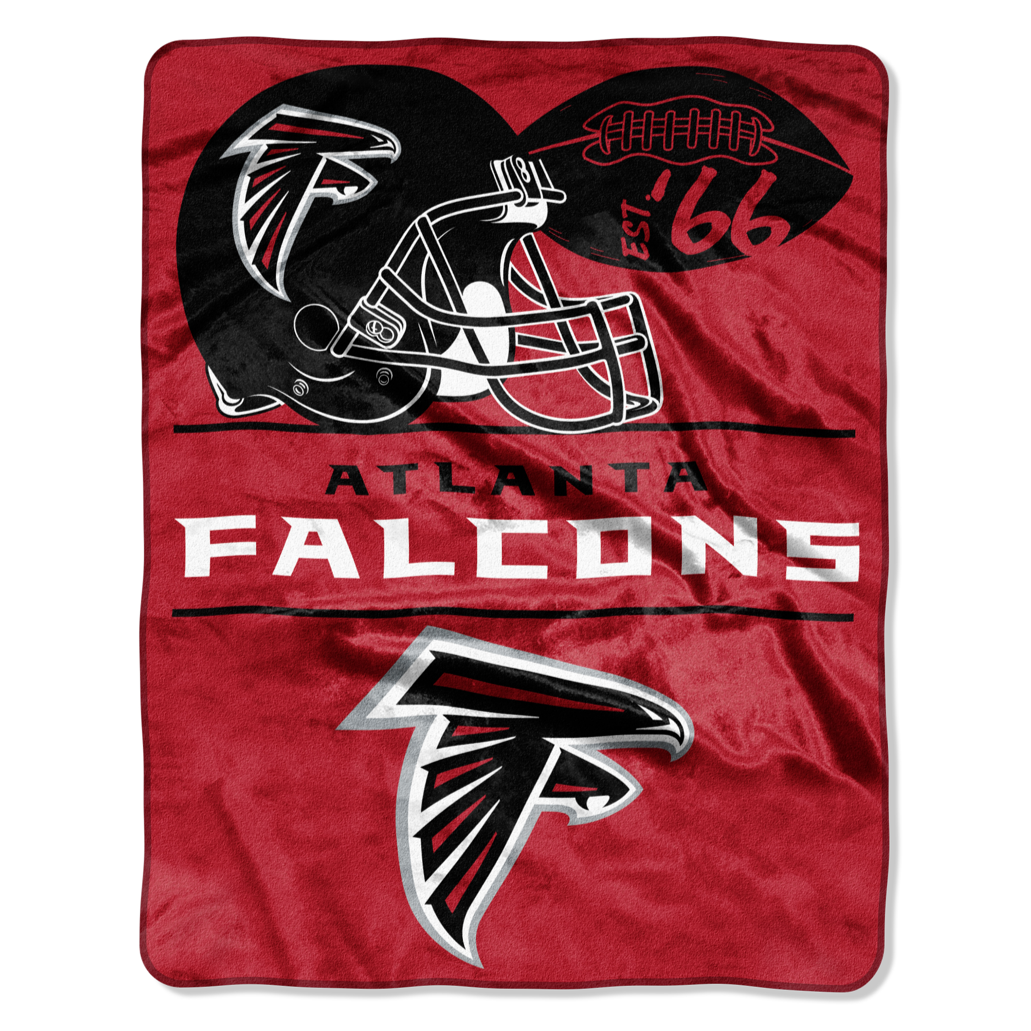 """NFL Atlanta Falcons """"Conference"""" 55"""" x 70"""" Silk Touch Throw, 1 Each"""