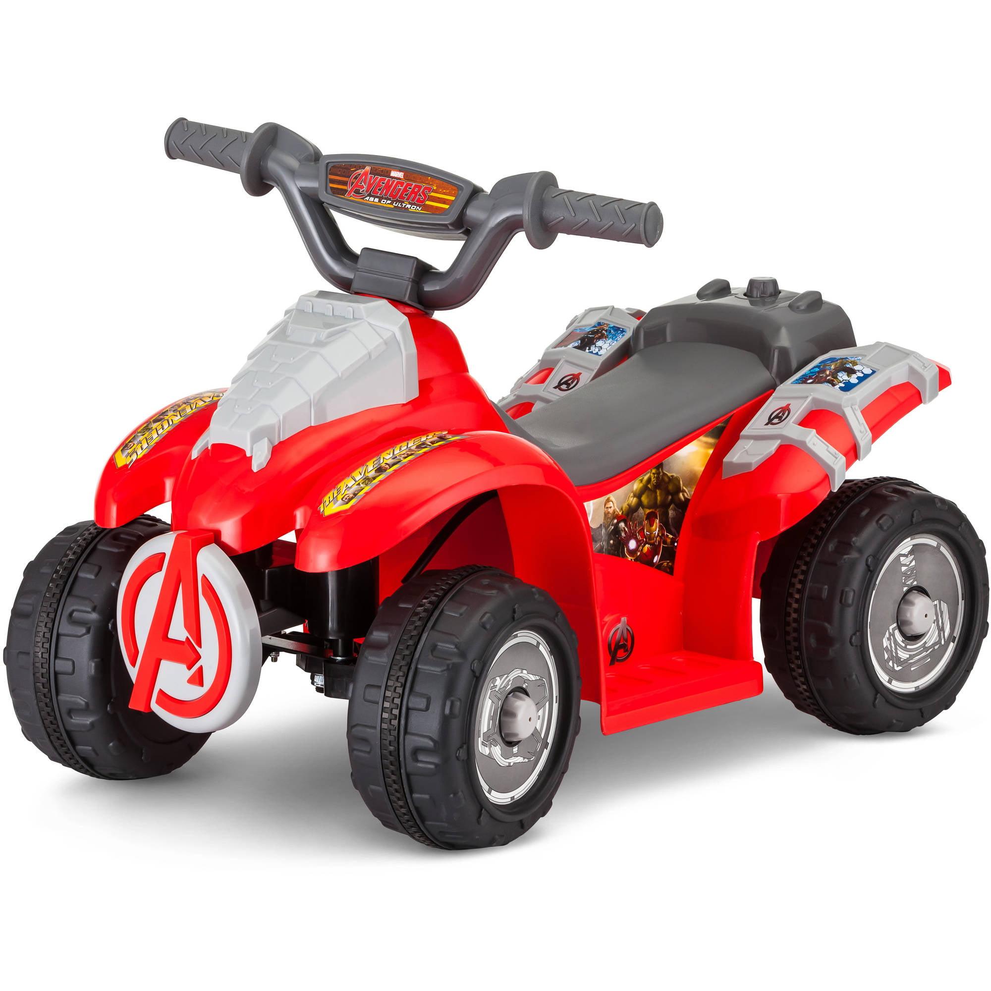 kid trax 6v avengers power quad walmartcom