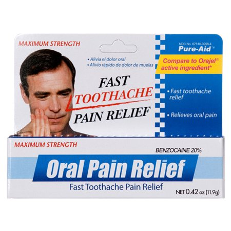 New 323902  Pure-Aid Oral Pain Relief 0.42 Oz (24-Pack) Oral Care Cheap Wholesale Discount Bulk Pharmacy Oral Care