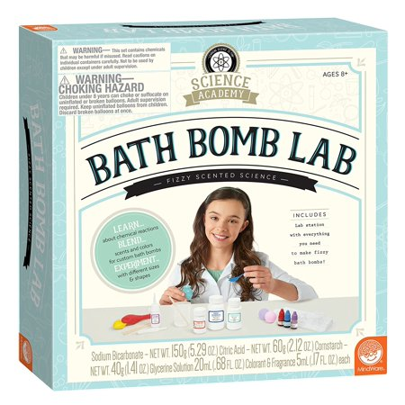 Science Academy: Bath Bomb Lab, TOYS THAT TEACH: This kit from MindWare makes it easy and safe to learn about the unique chemical reactions that.., By MindWare (Mindware Toys)
