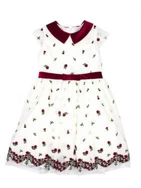 631af1fbf8b Product Image Embroidered Border Tulle Holiday Dress (Little Girls   Big  Girls)