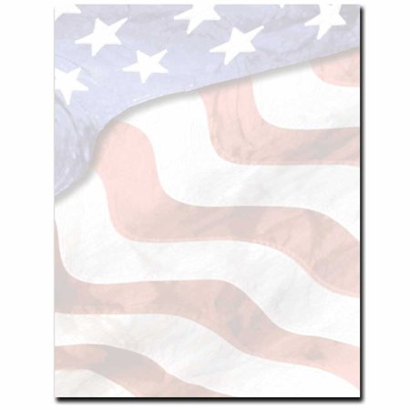 Grand Old Flag Letterhead Printer Paper, 80 Sheets ()