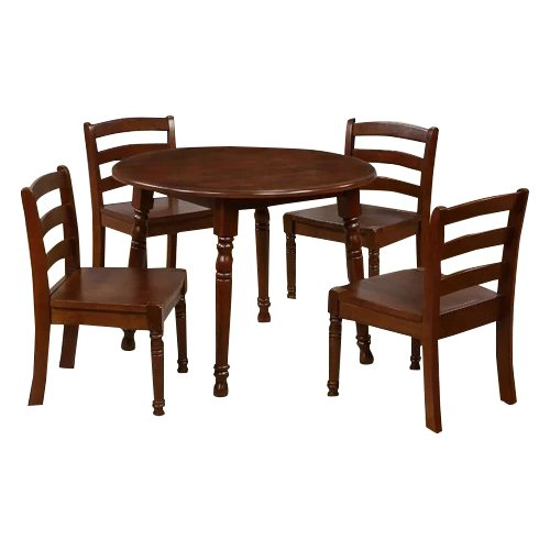 Ehemco Kids 5 Piece Round Table And Chair Set Walmart Com