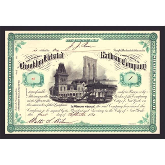 Buy Enlarge 0-587-17510-9P12x18 Brooklyn Elevated Rail Road Company- Paper Size P12x18