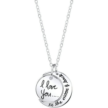 Unbranded Sterling Silver I Love You To The Moon and Back Necklace