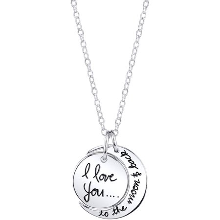 Sterling Silver I Love You To The Moon and Back Necklace](Cheap Necklaces)