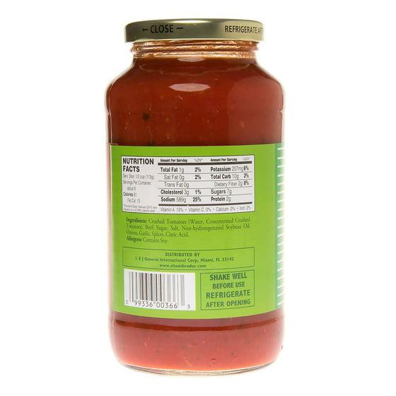 El Sembrador Spaghetti Sauce Meat Flavor 24 Oz Walmartcom